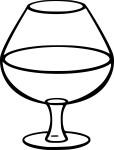 Coloriage verre de vin