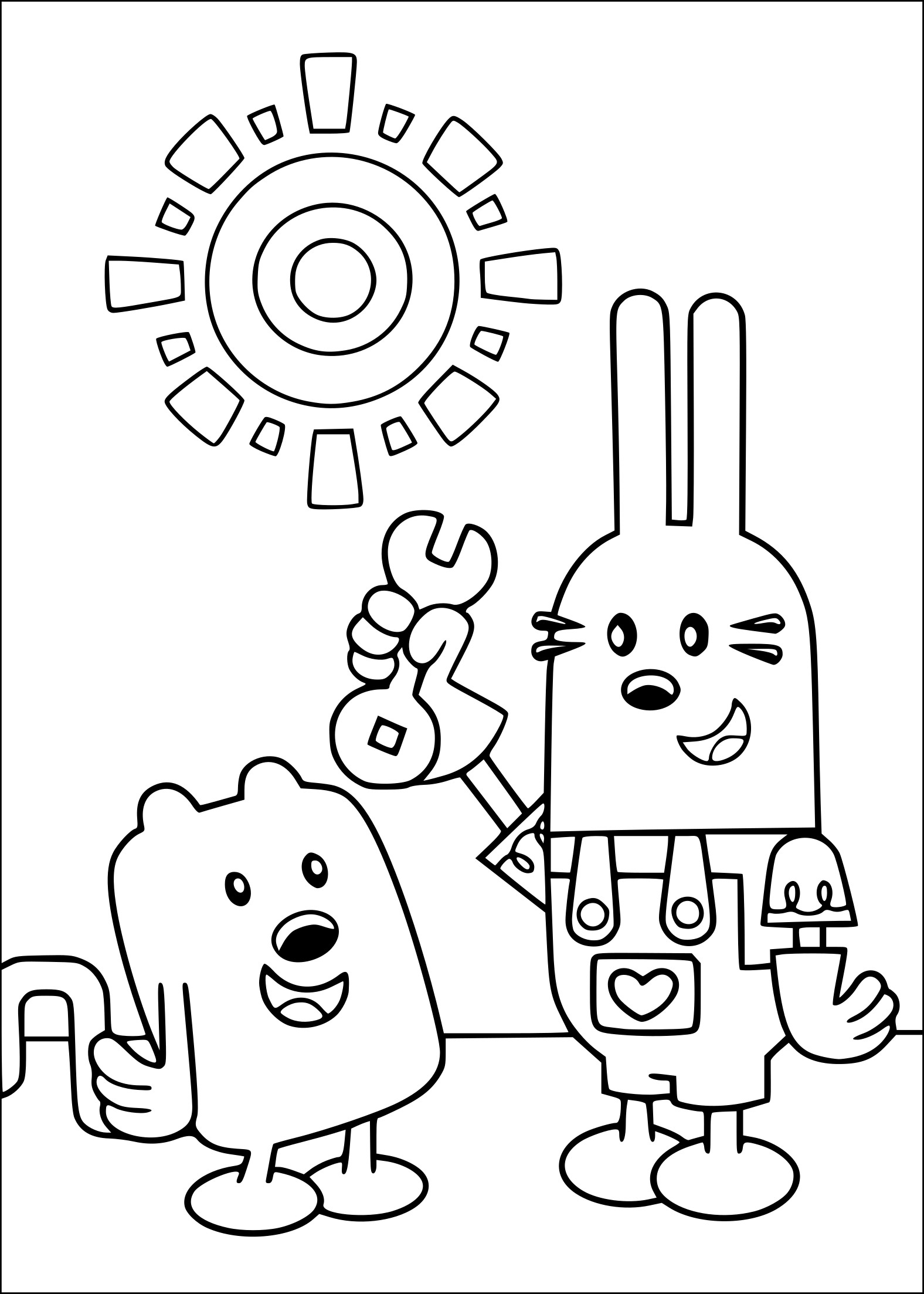 Coloriage Wow! Wow! Wubbzy!