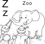 Coloriage Z comme Zoo