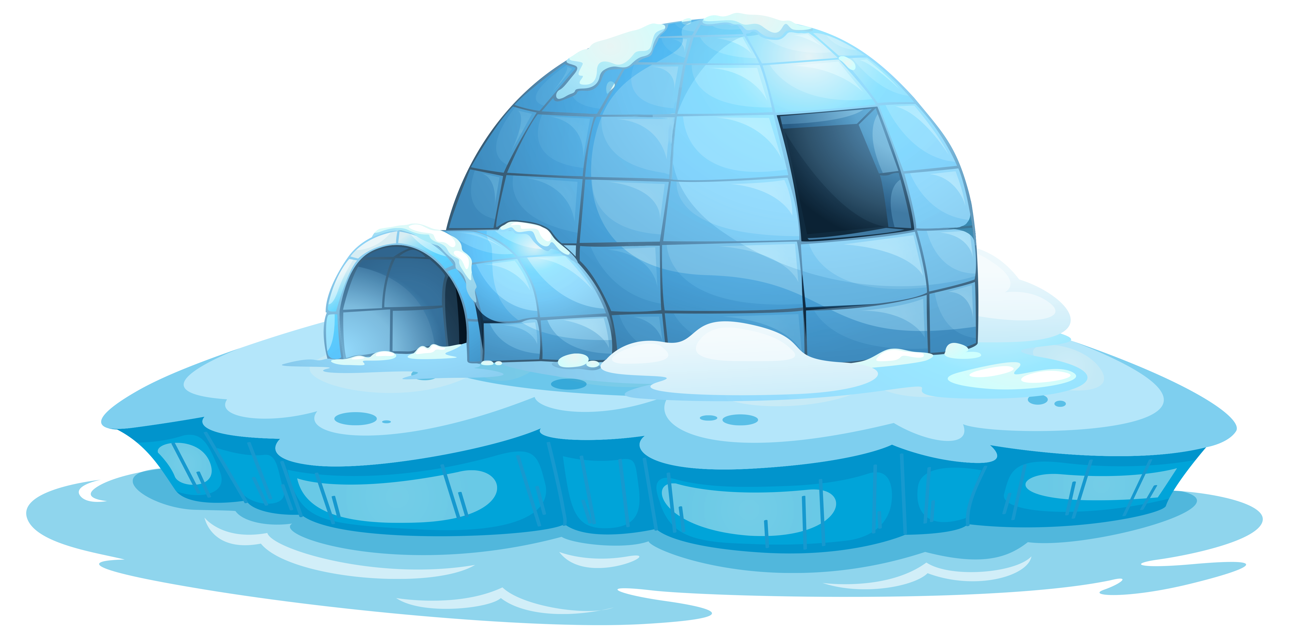 igloo coloring pages high resolution - photo#8