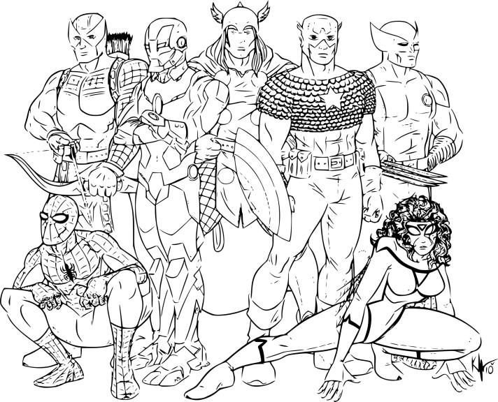 Avengers coloriage
