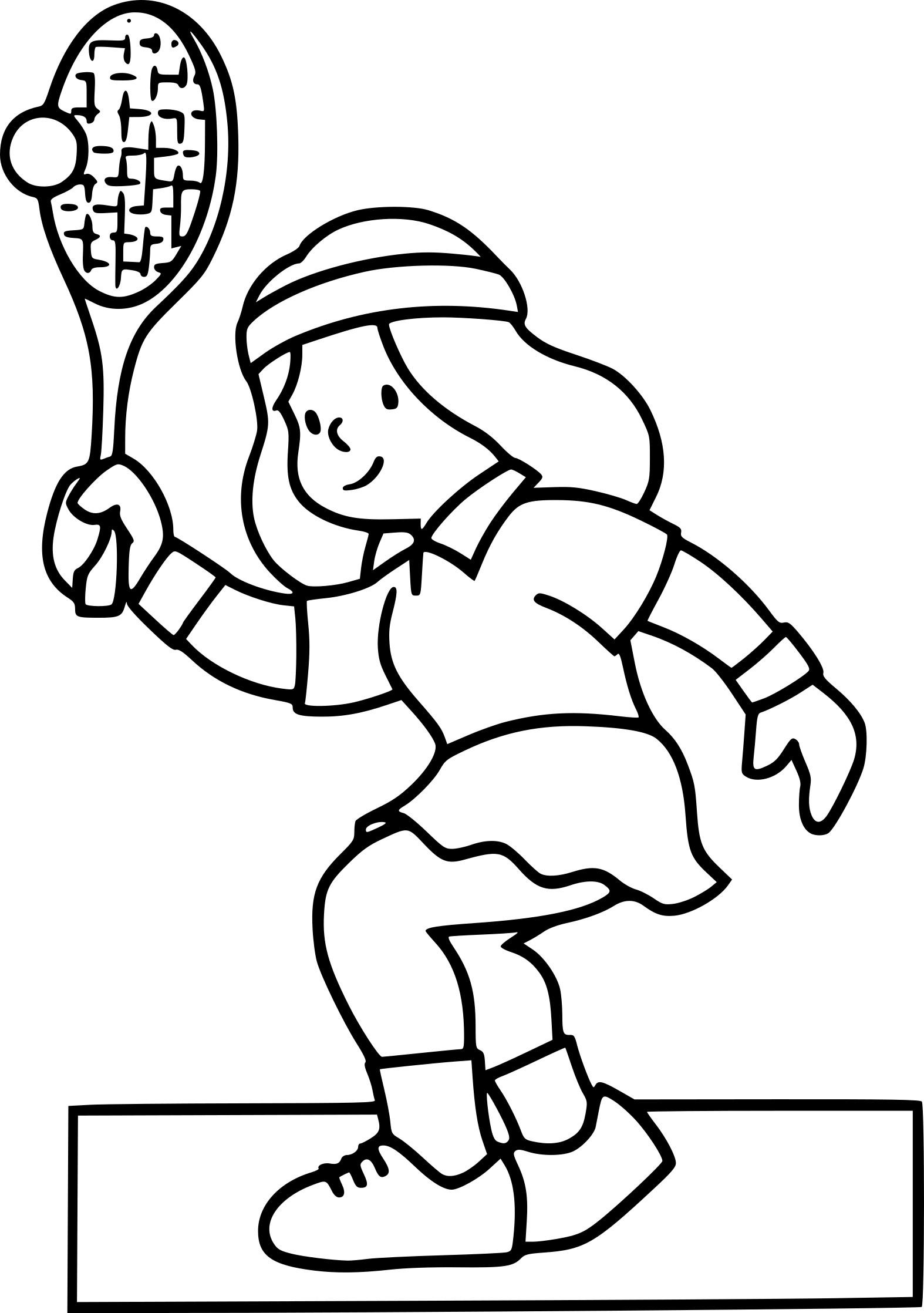 Badminton coloriage