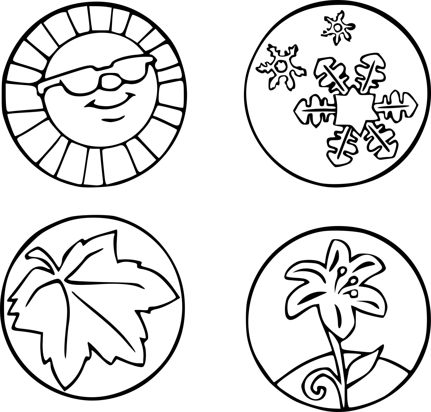 Dessin 4 saisons coloriage - Coloriage saisons a imprimer ...