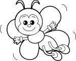 Coloriage abeille maternelle