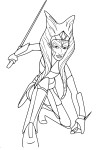 Coloriage Ahsoka Star Wars