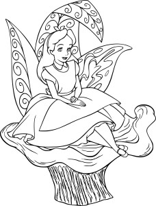 Coloriage Alice Disney