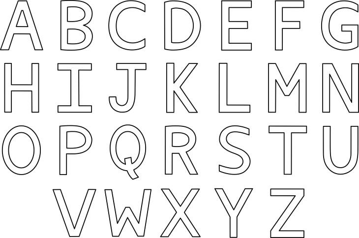Coloriage alphabet à imprimer