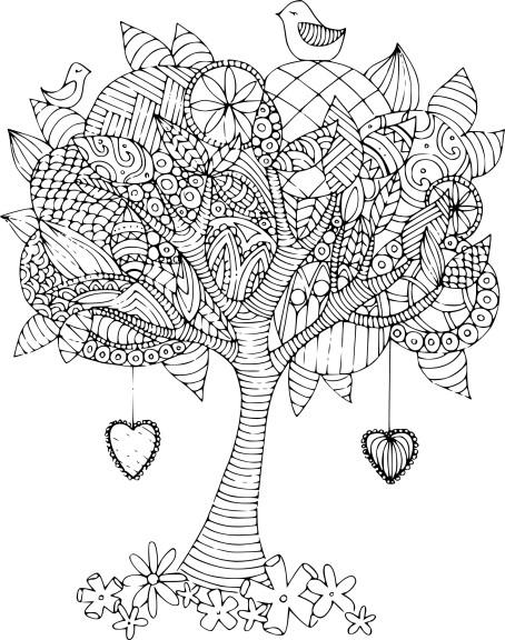 Coloriage arbre adulte