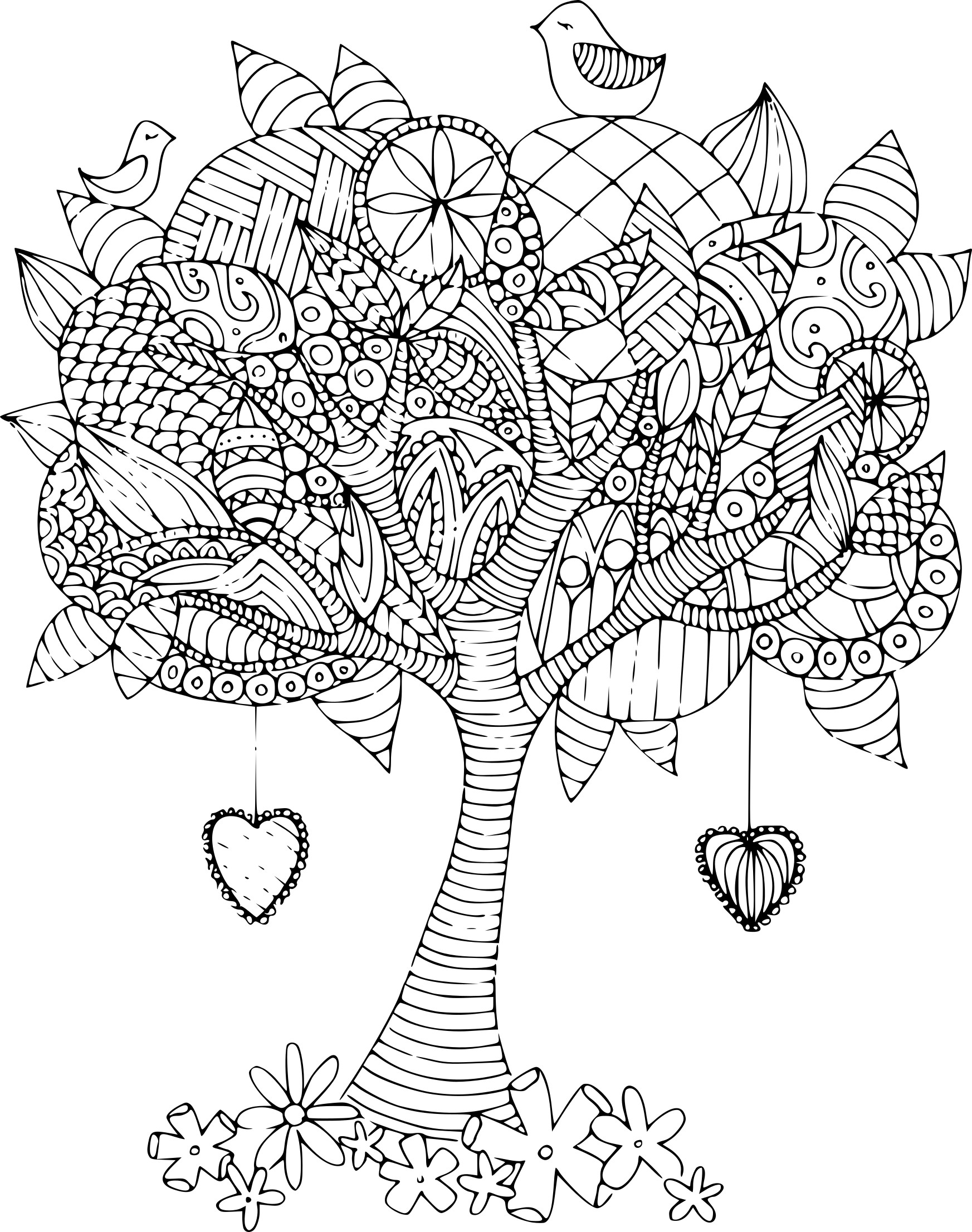 Coloriage Arbre Anti Stress.Coloriage Arbre Adulte A Imprimer