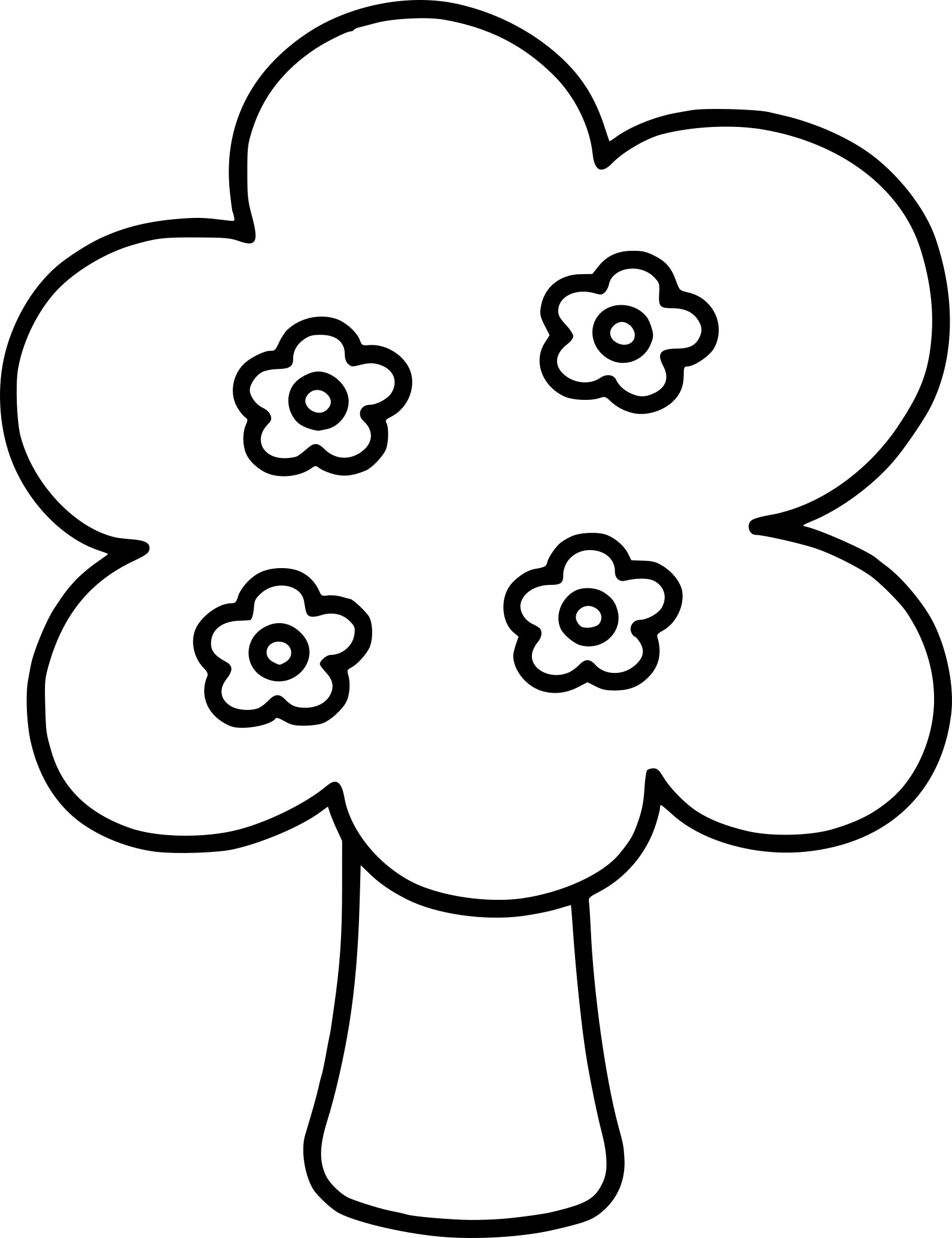 Coloriage arbre simple imprimer - Dessin arbre simple ...