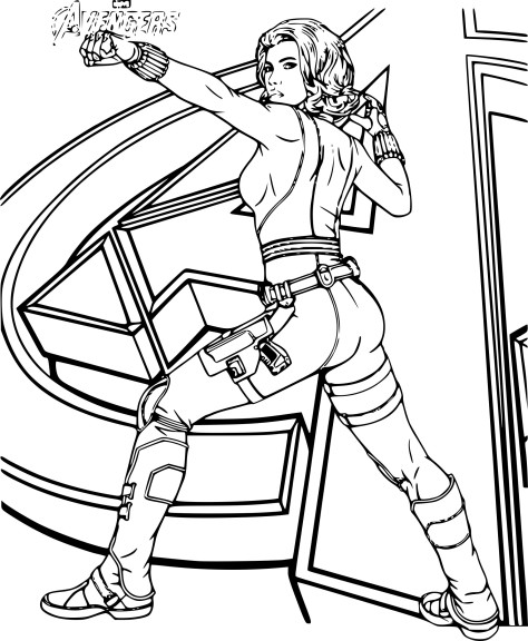Coloriage Avengers Black Widow