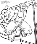 Coloriage Avengers Hulk