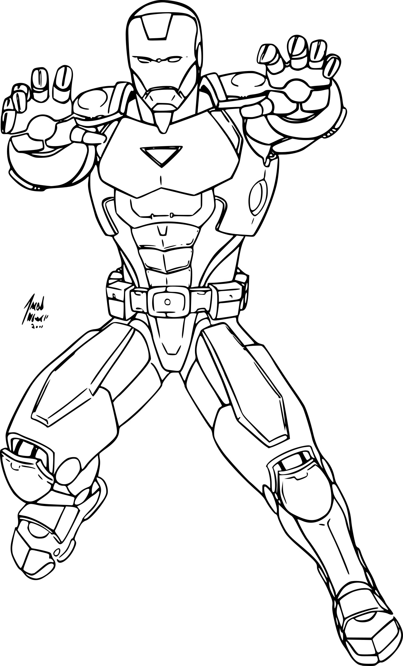 coloriage avengers iron man