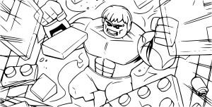 Coloriage Avengers lego