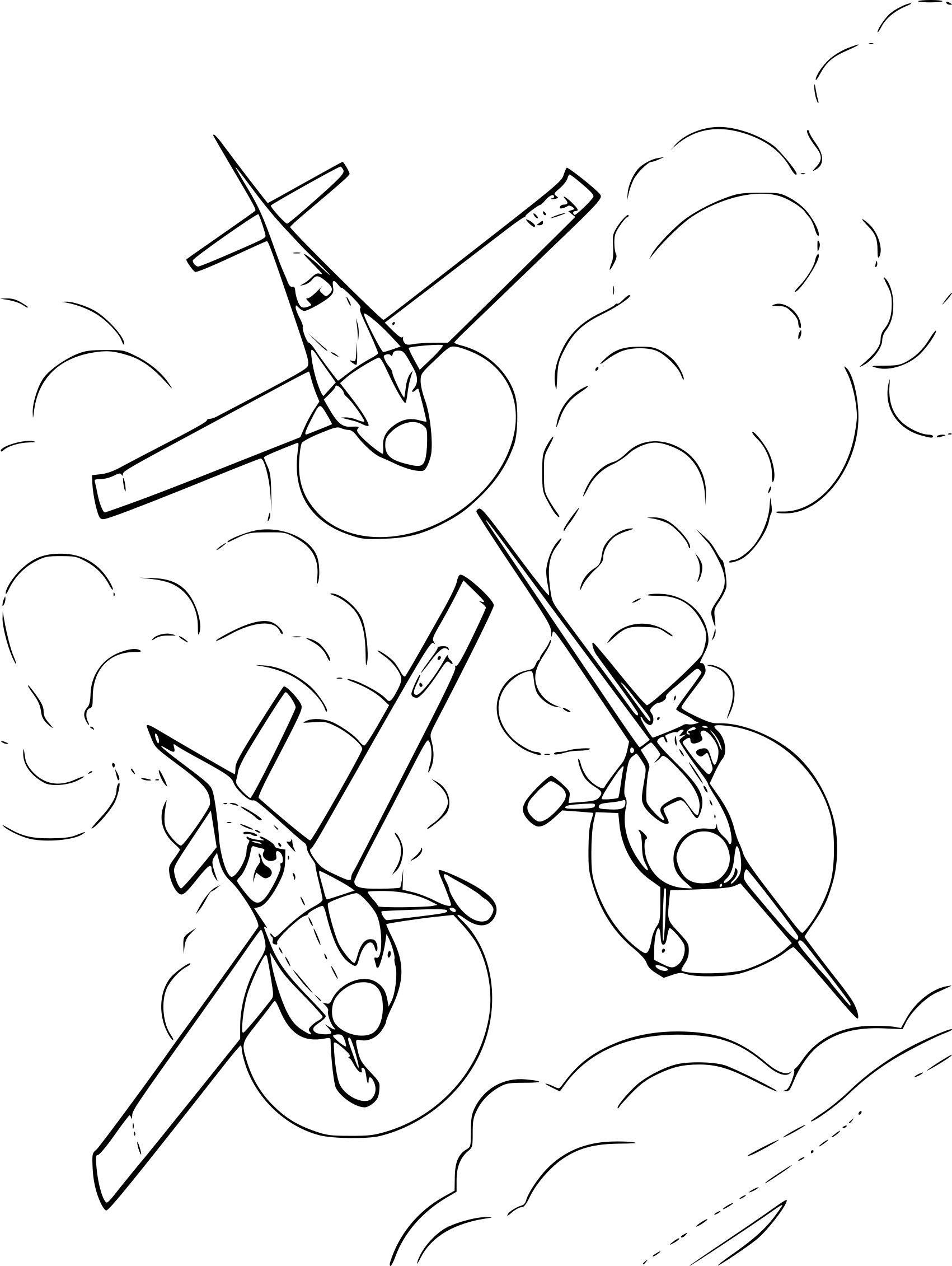 Coloriage Avion Planes A Imprimer