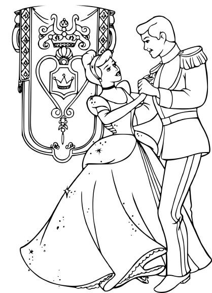 Coloriage bal Cendrillon