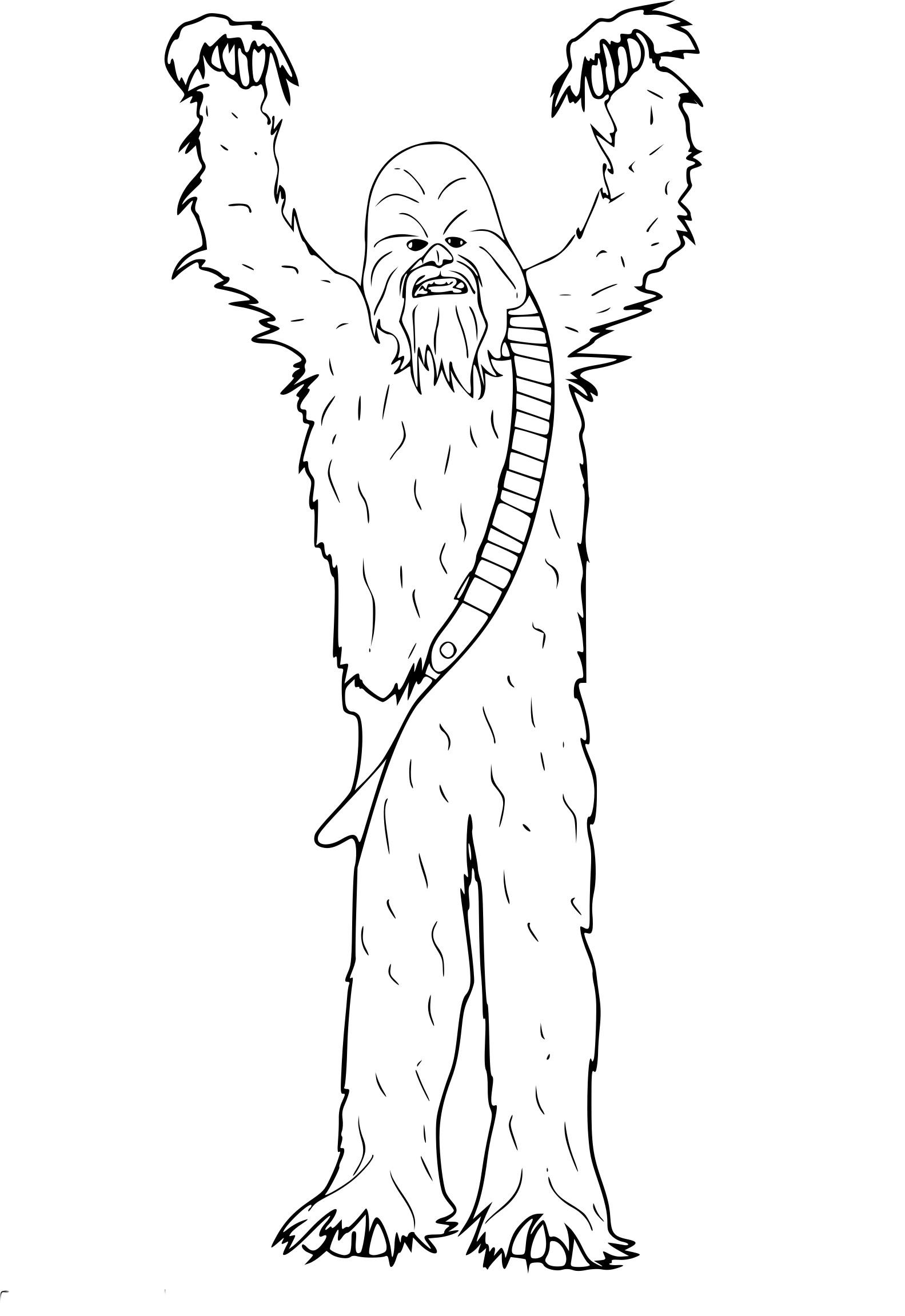 Coloriage Chewbacca