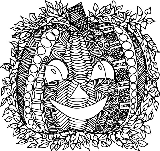 Coloriage Citrouille Adulte 224 Imprimer