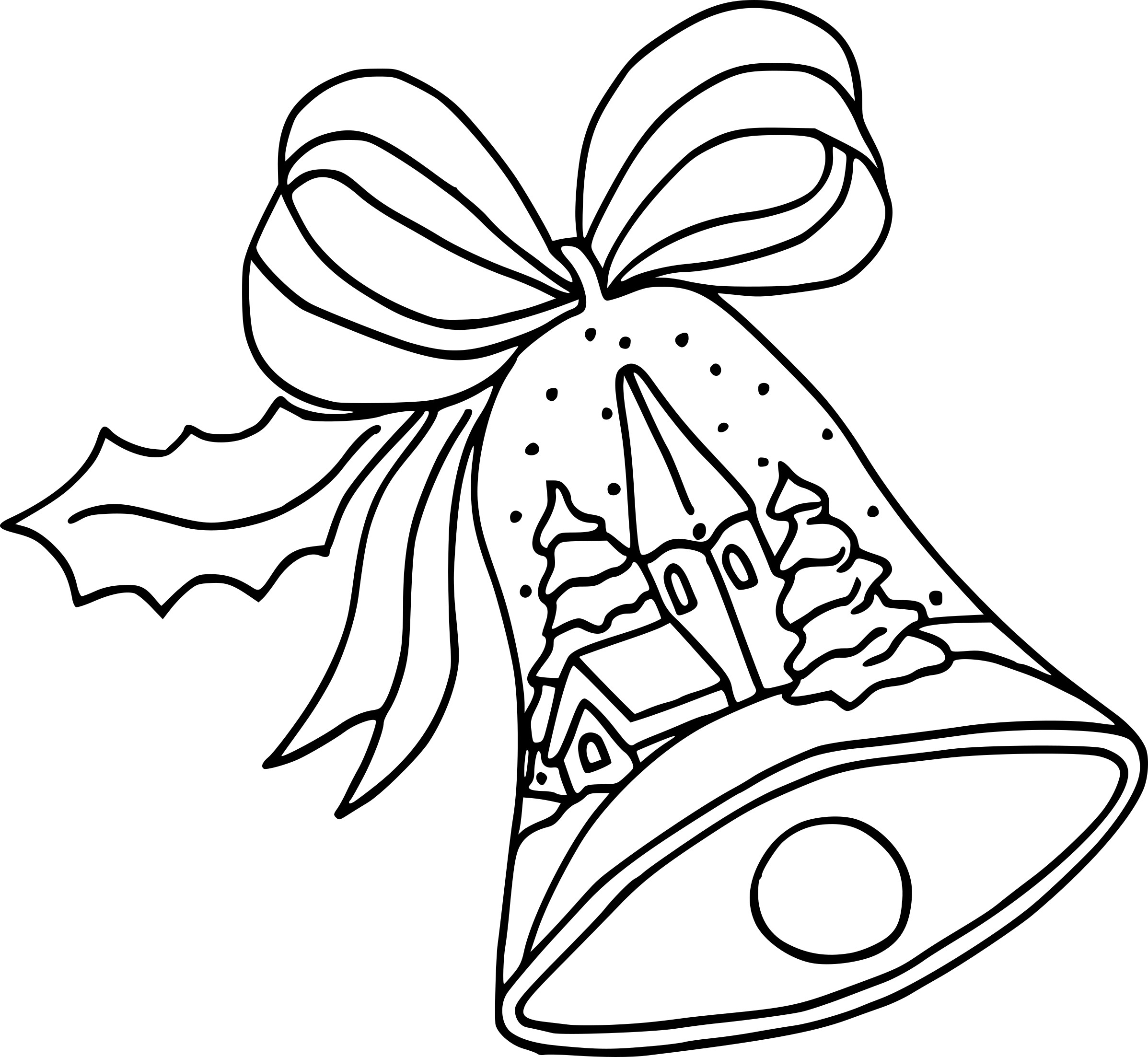 Coloriage cloche de Noel