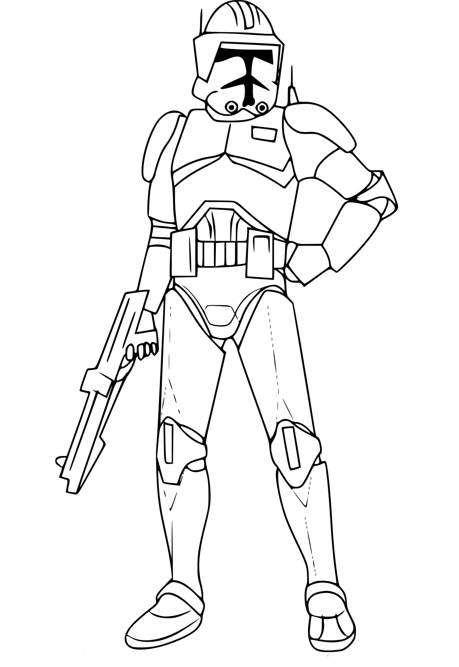 Coloriage Cody Star Wars