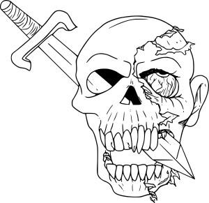Coloriage zombie qui fait peur imprimer - Dessin anime qui fait peur ...