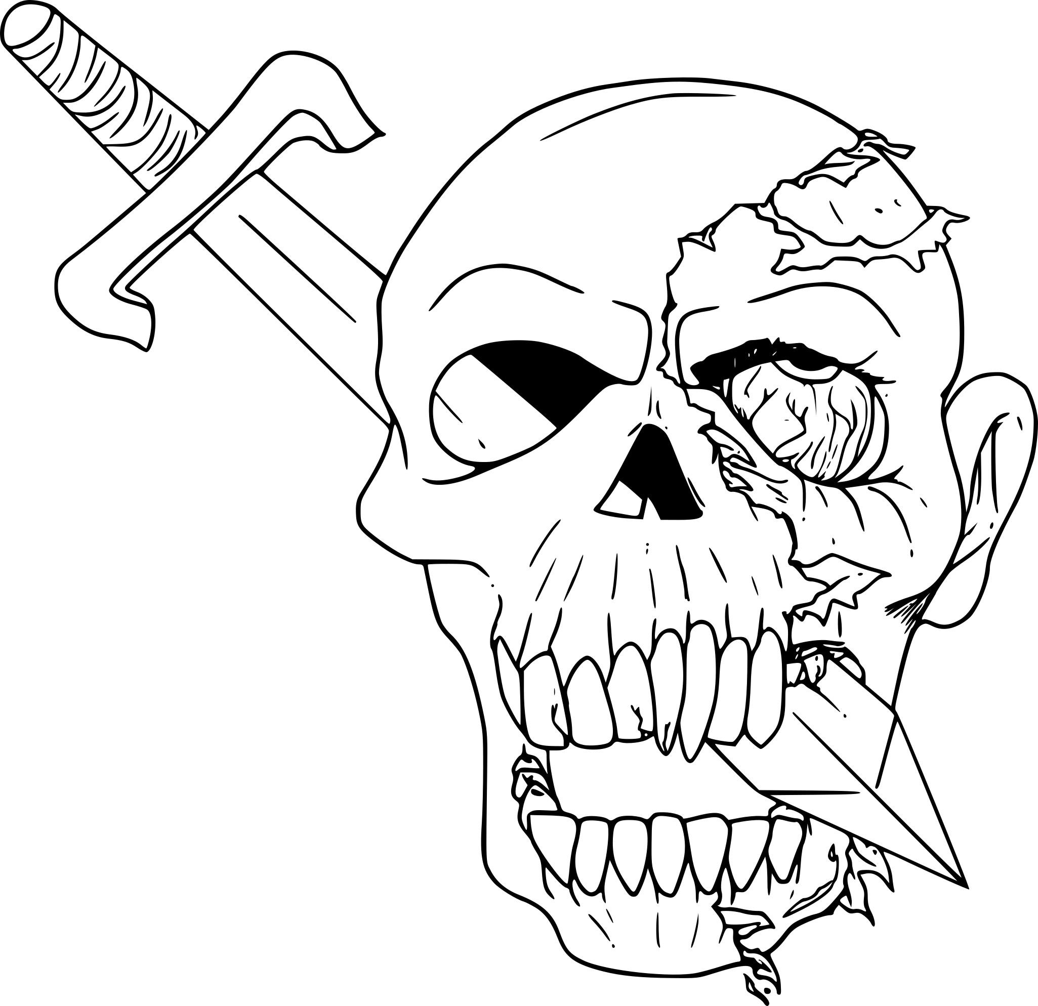 Coloriage crane de pirate à imprimer