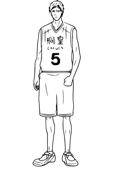 Coloriage Daiki Aomine Kuroko's Basket