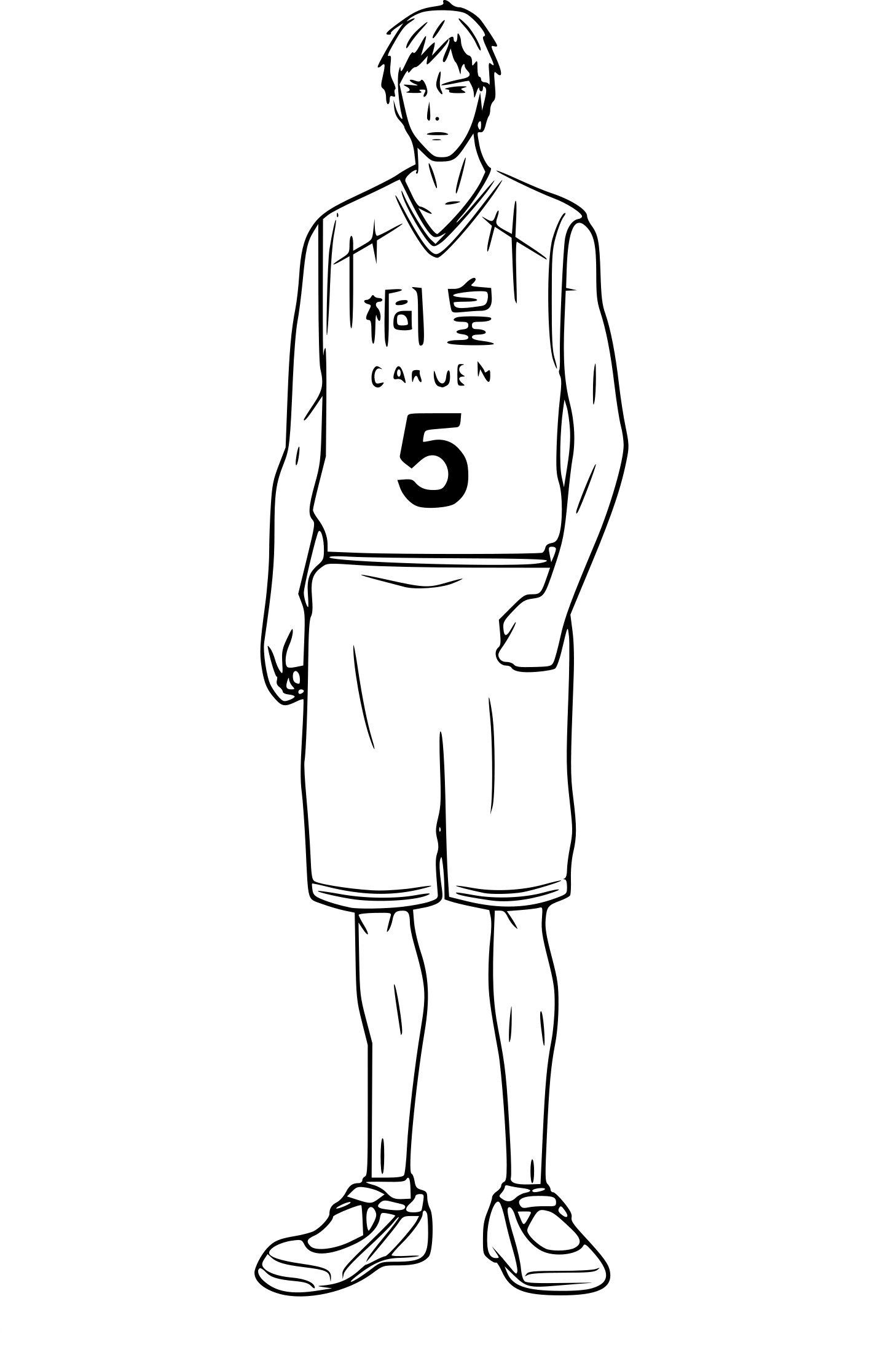 coloriage a imprimer kuroko basket