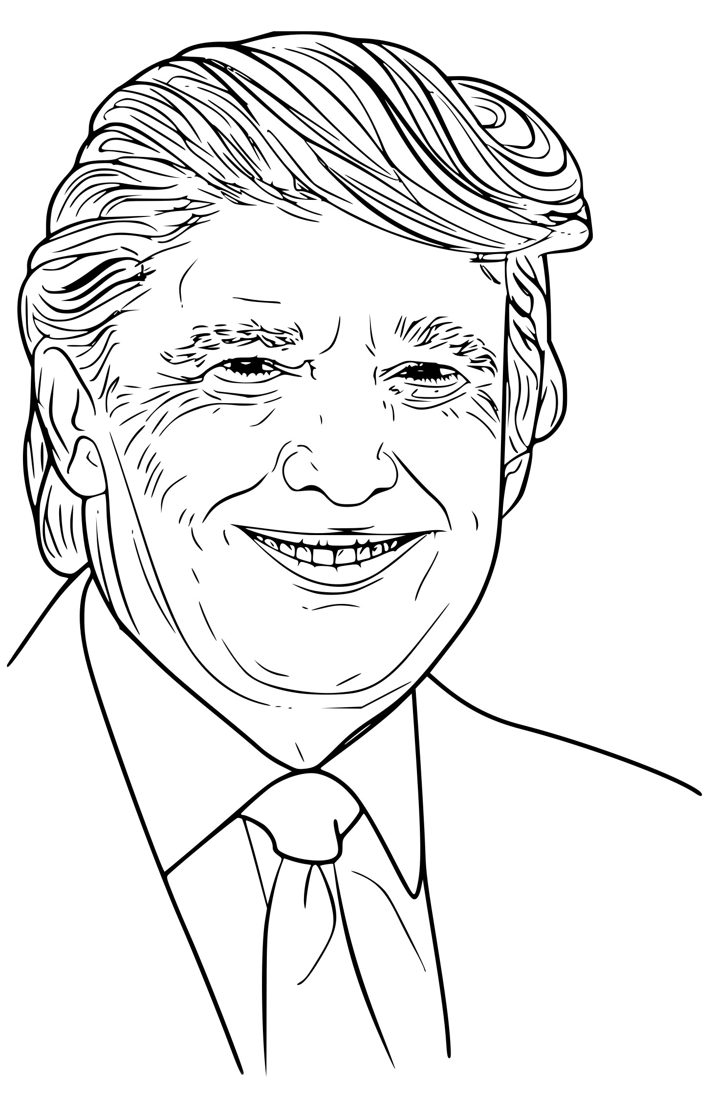 Coloriage Donald Trump à imprimer