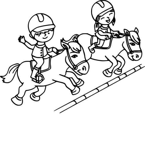 Coloriage equitation