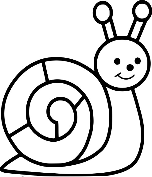 Coloriage escargot maternelle