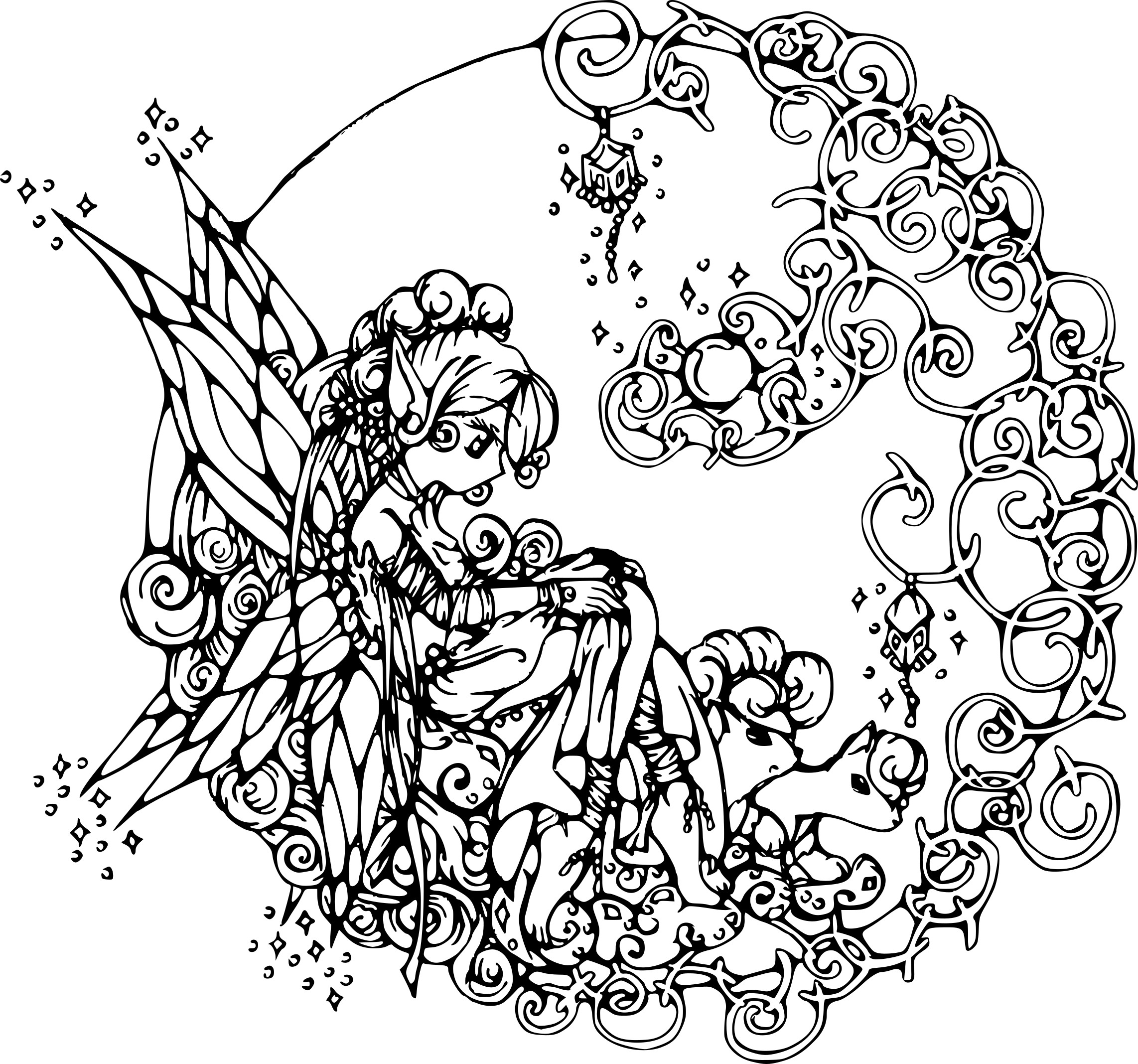 Coloriage f e adulte imprimer - Fee coloriage ...