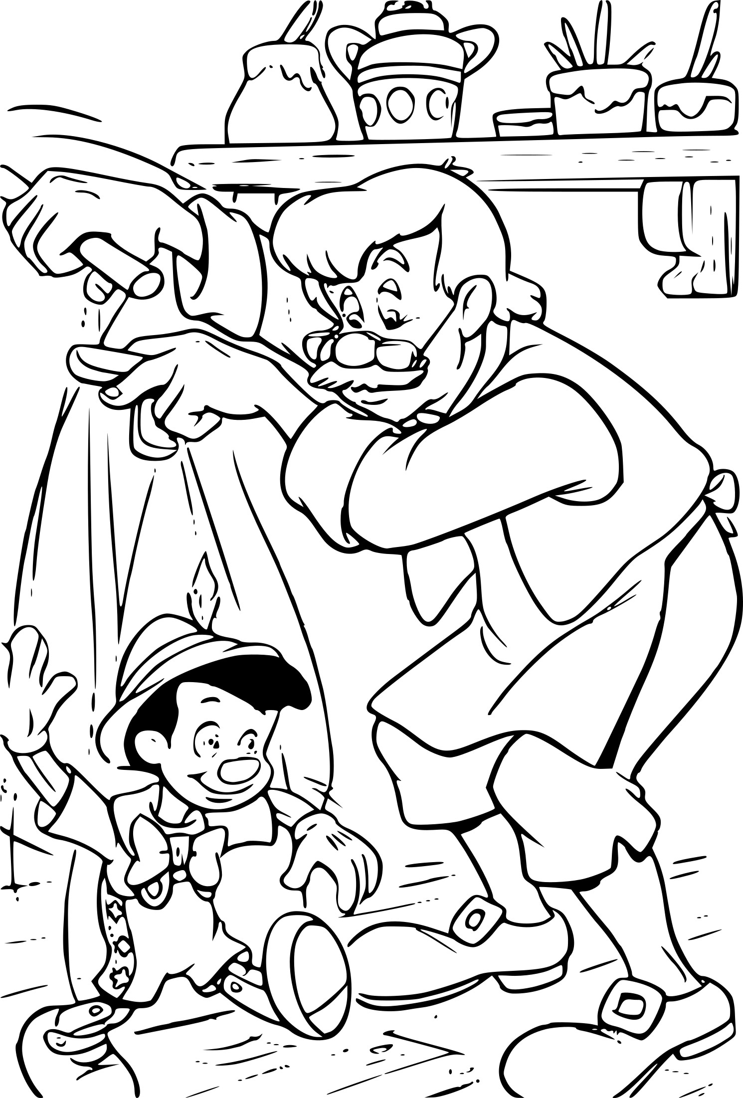 Coloriage Geppetto Disney