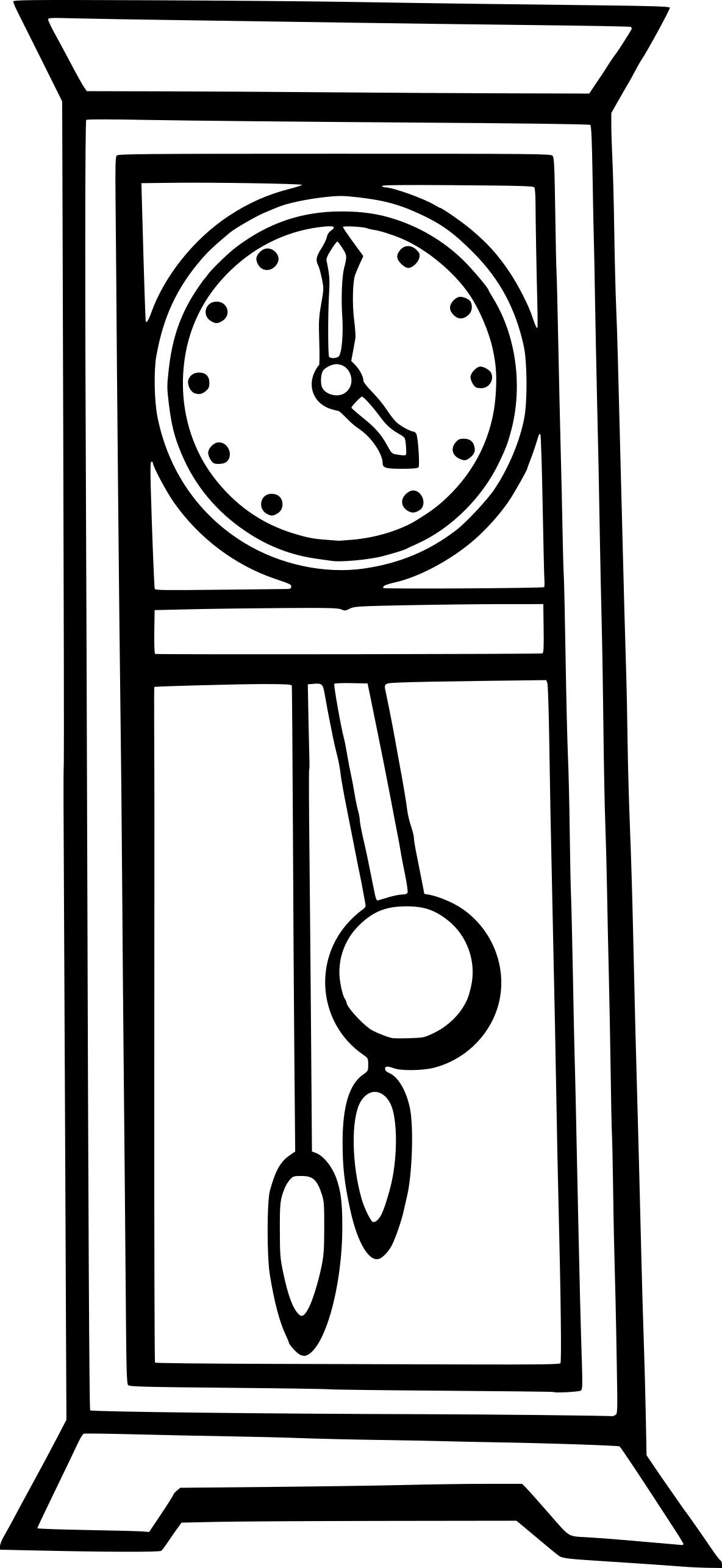 Coloriage horloge