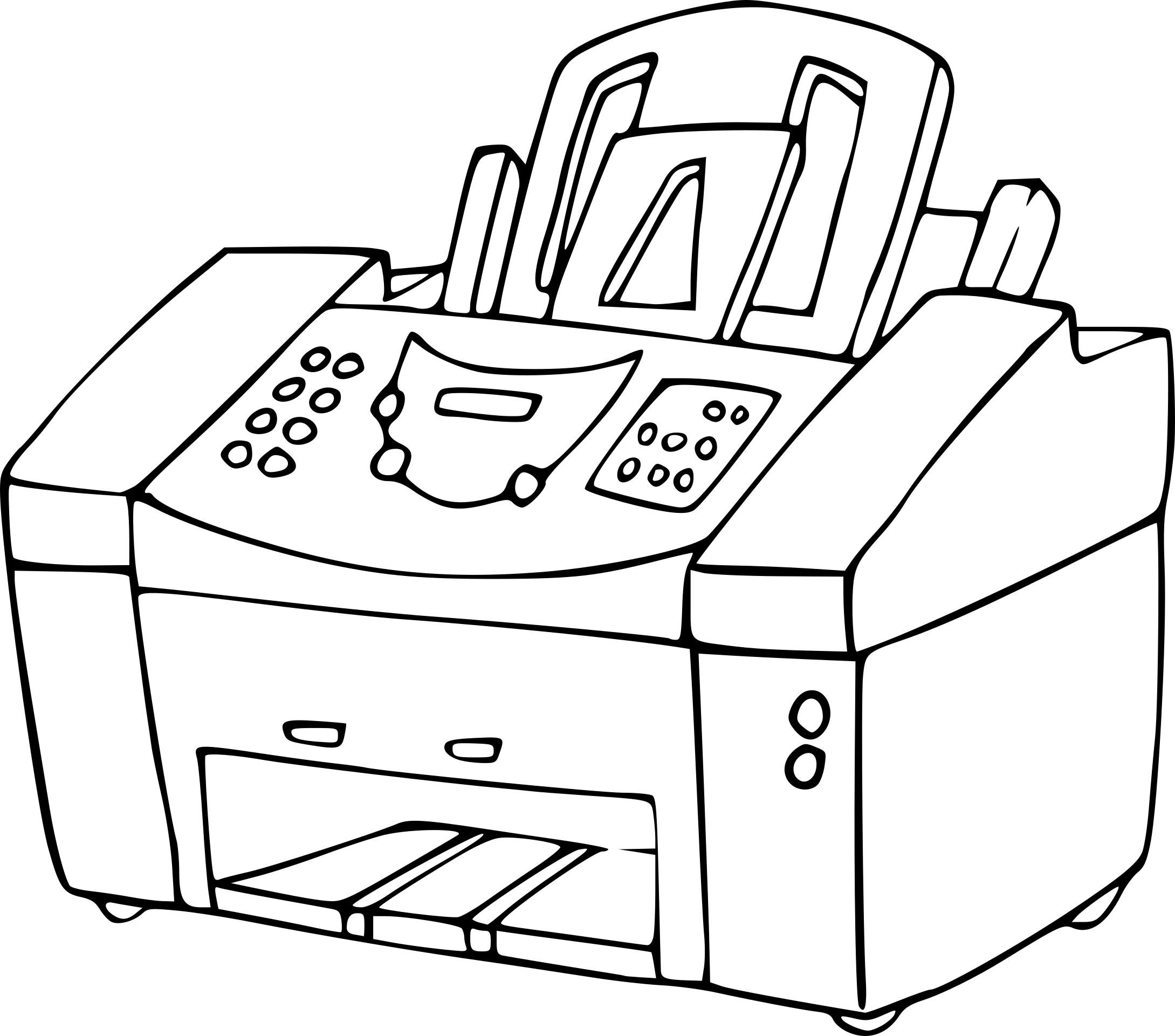 Dessin A Imprimer: Coloriage Imprimante à Imprimer
