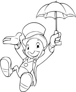 Coloriage Jiminy Cricket