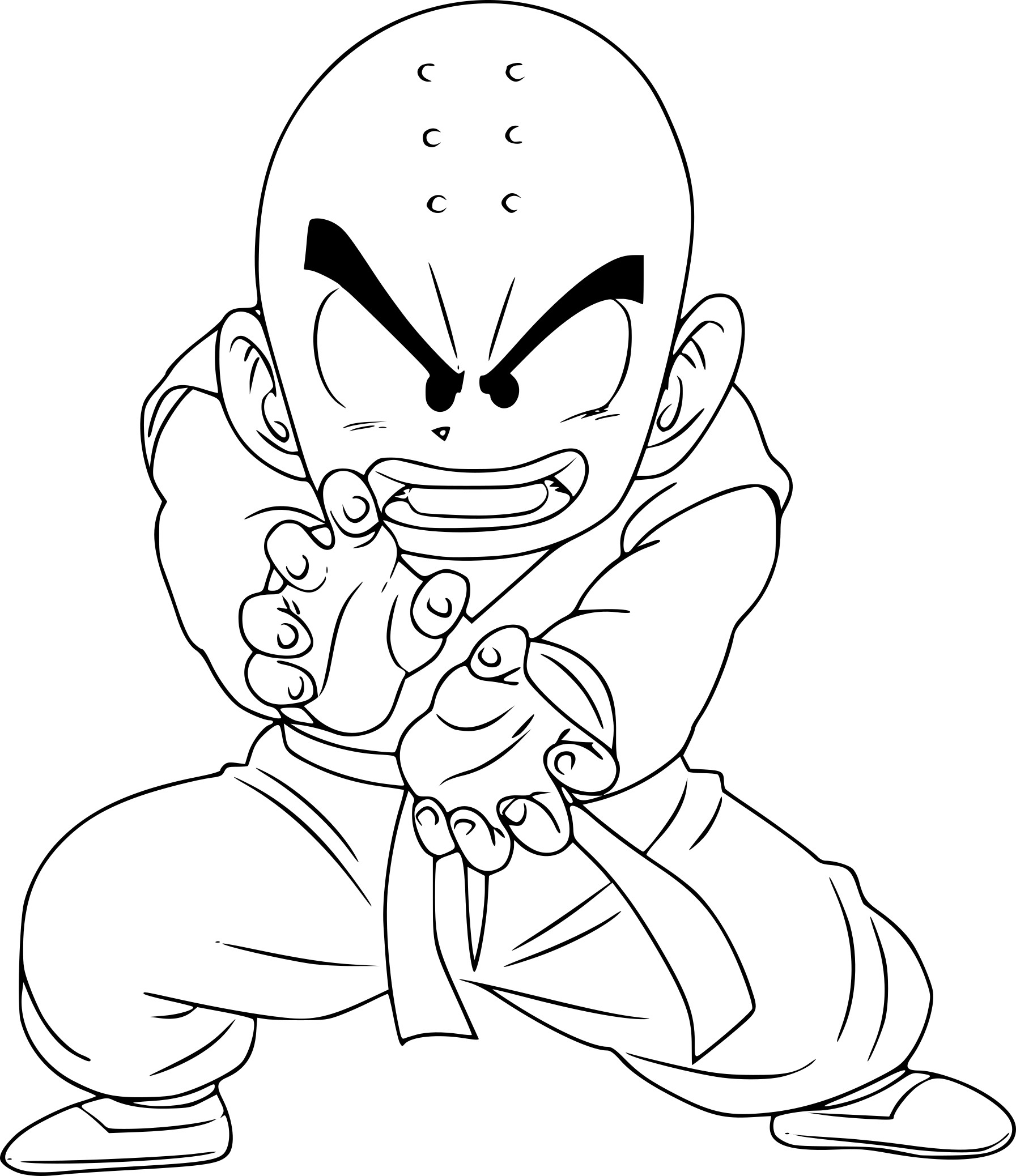 Coloriage krilin imprimer - Dessin dragon ball z facile ...