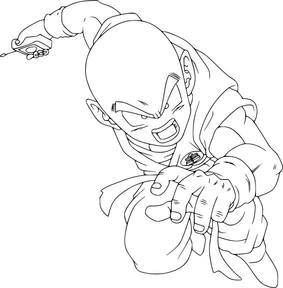 Coloriage Krilin DBZ