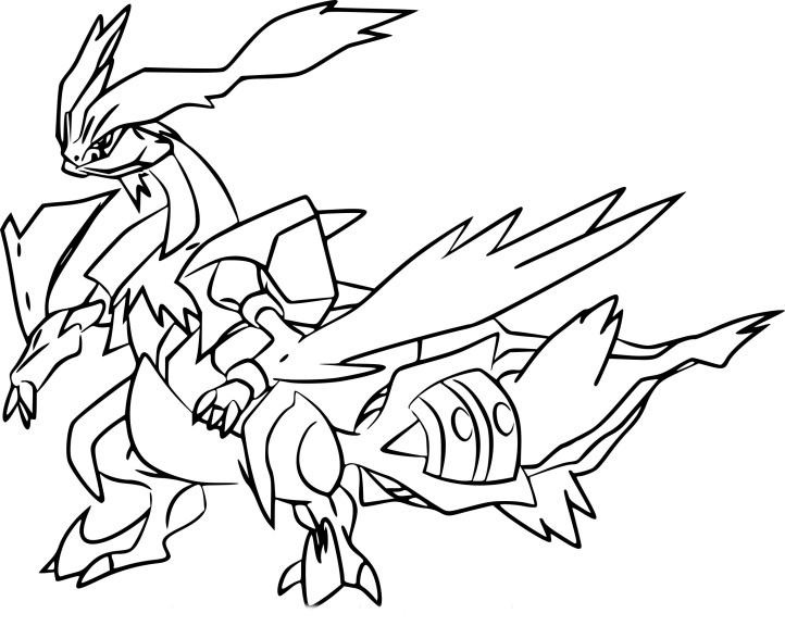 Coloriage kyurem blanc pokemon imprimer - Pokemon legendaire blanc 2 ...