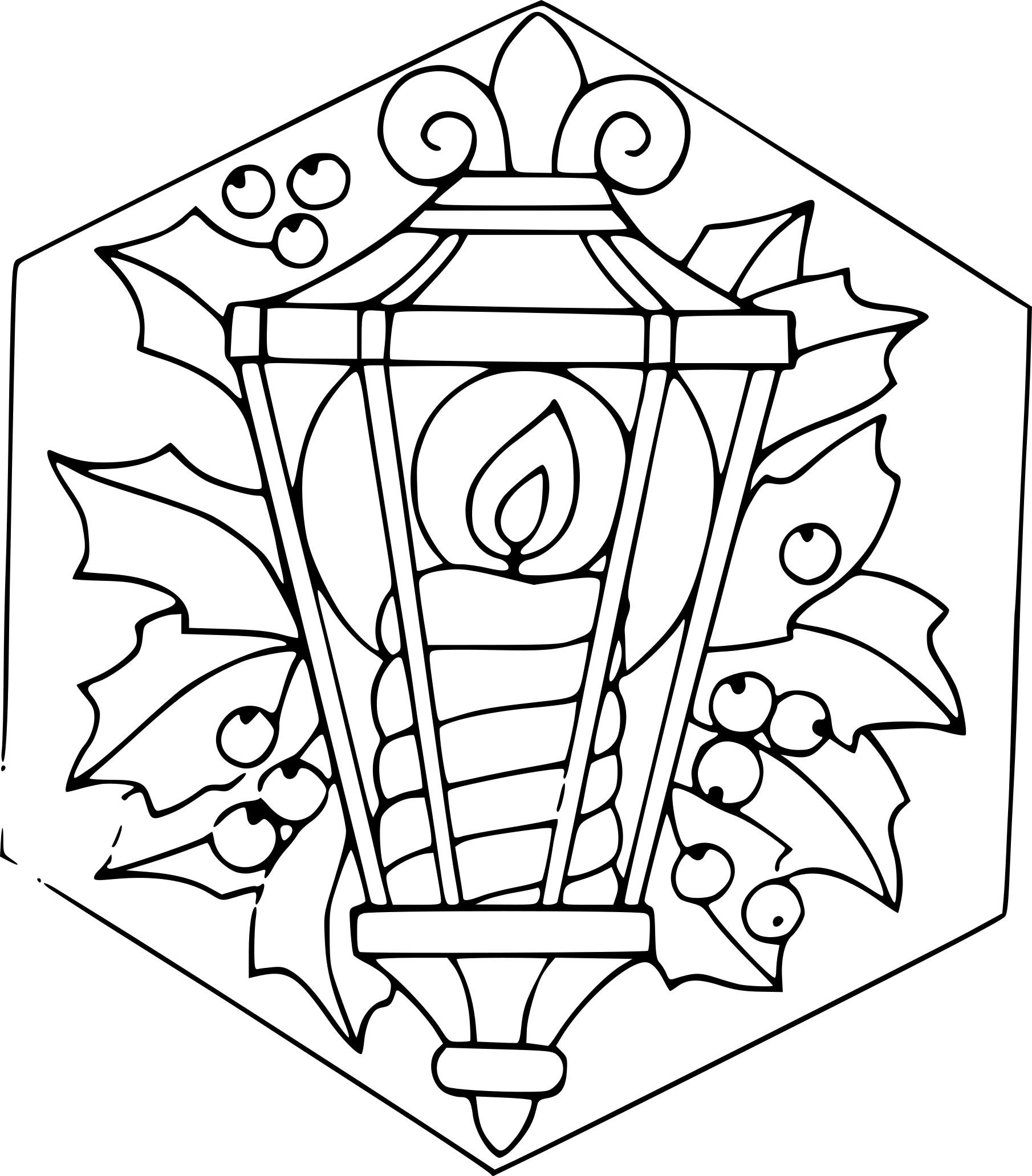 Coloriage lanterne de Noel