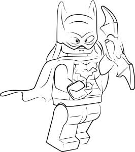 Coloriage Lego batgirl