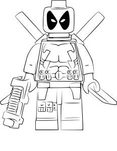 Coloriage Lego Deadpool