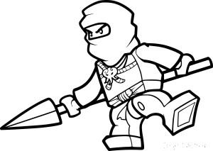 Coloriage lego ninja