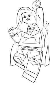 Coloriage Lego Supergirl