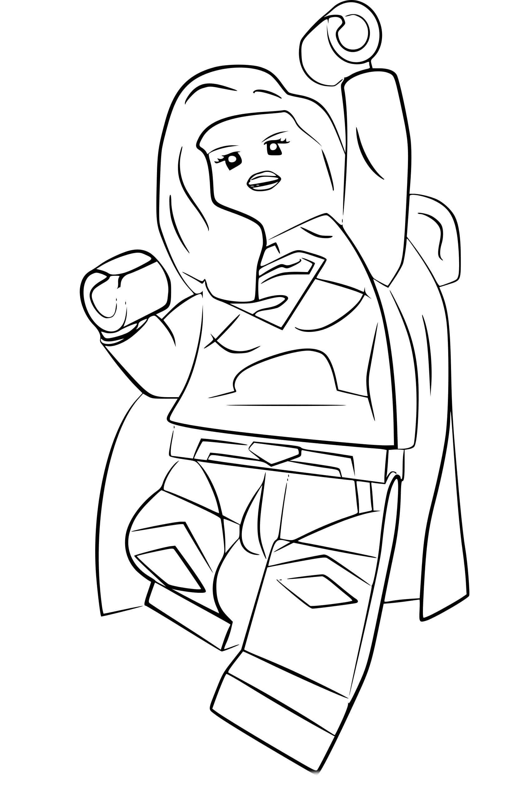 Coloriage lego supergirl imprimer - Lego coloriage ...