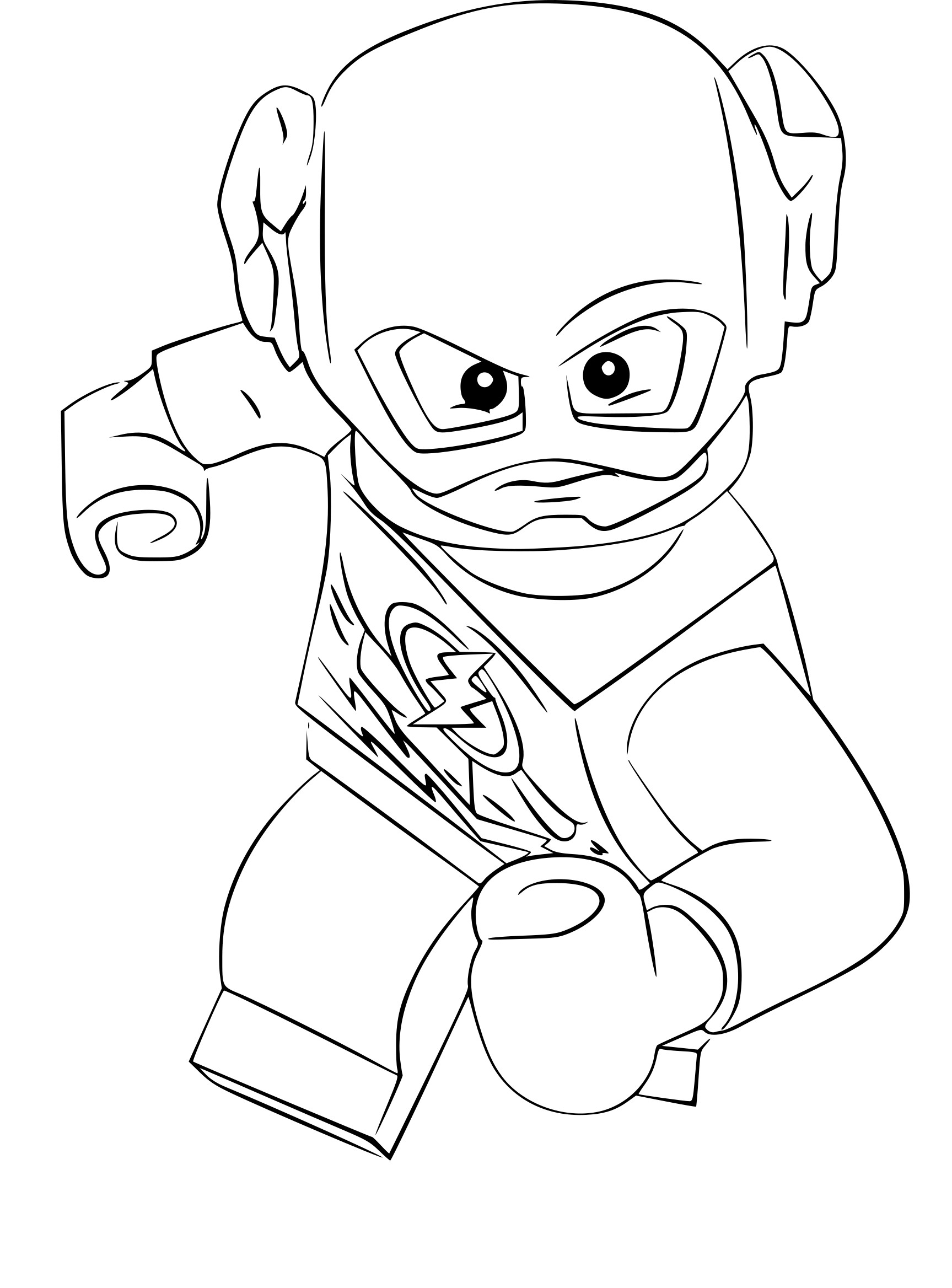 Coloriage Flash.Coloriage Lego The Flash A Imprimer