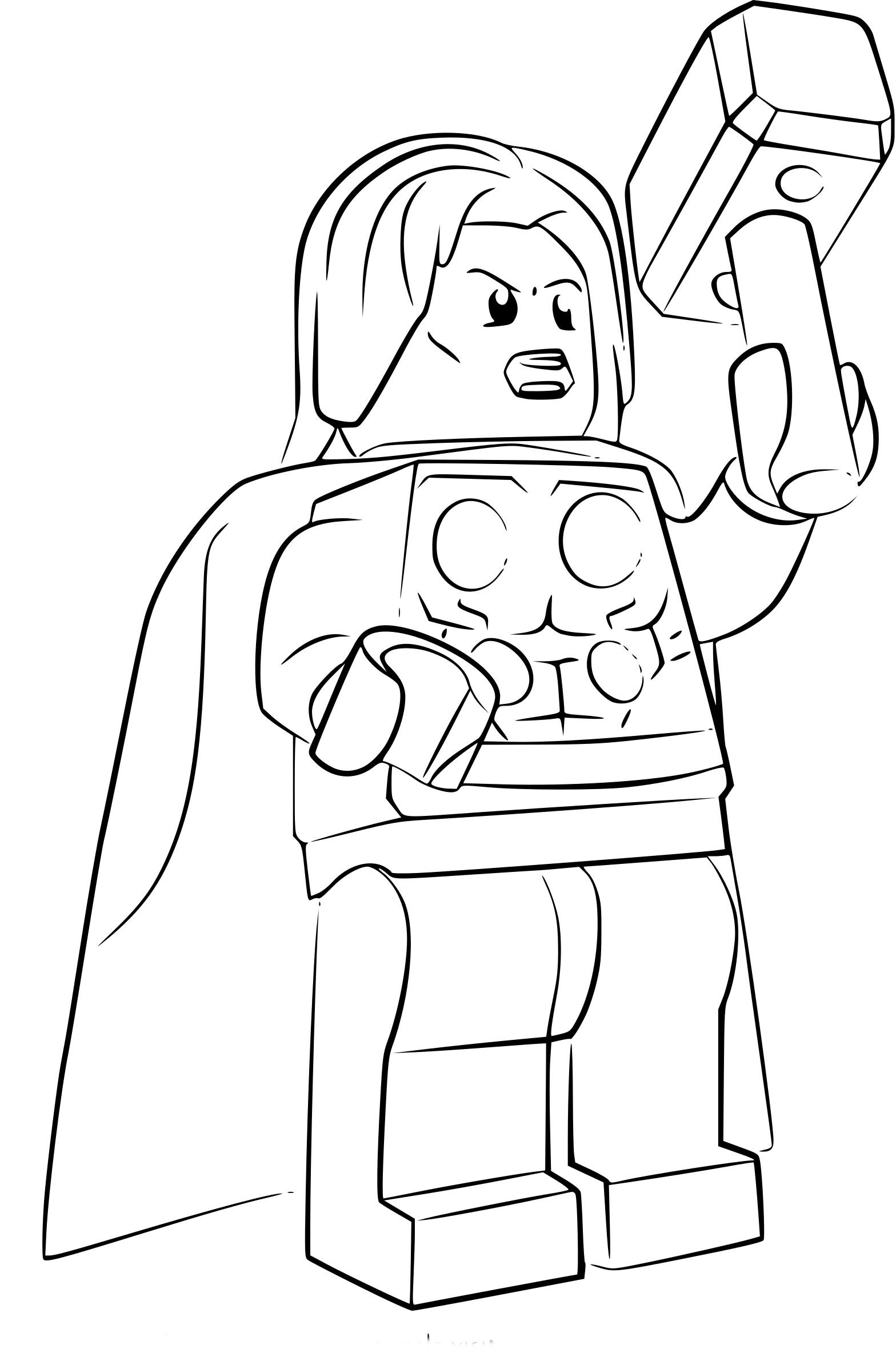 Coloriage Lego Thor A Imprimer