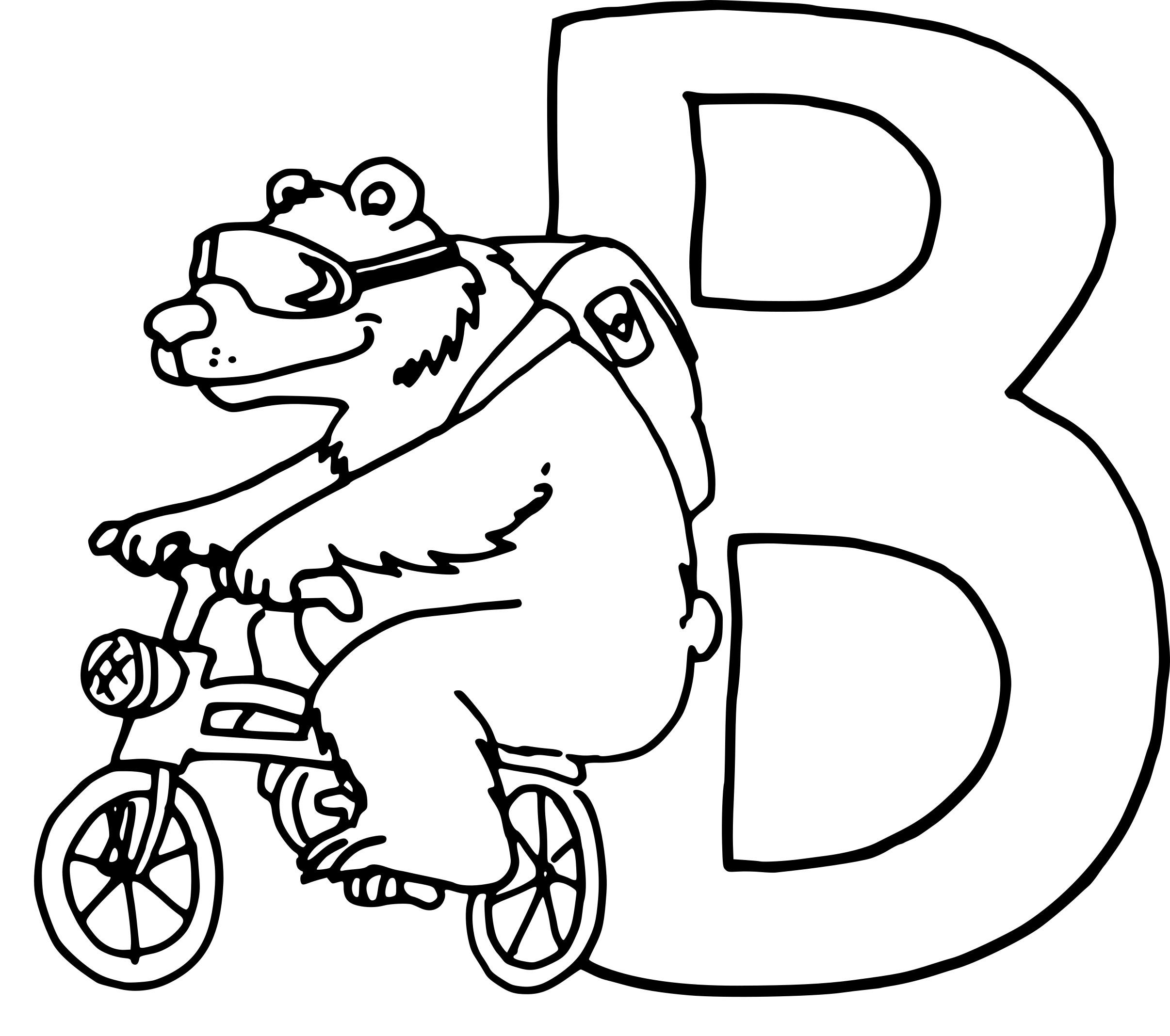 Coloriage lettre B