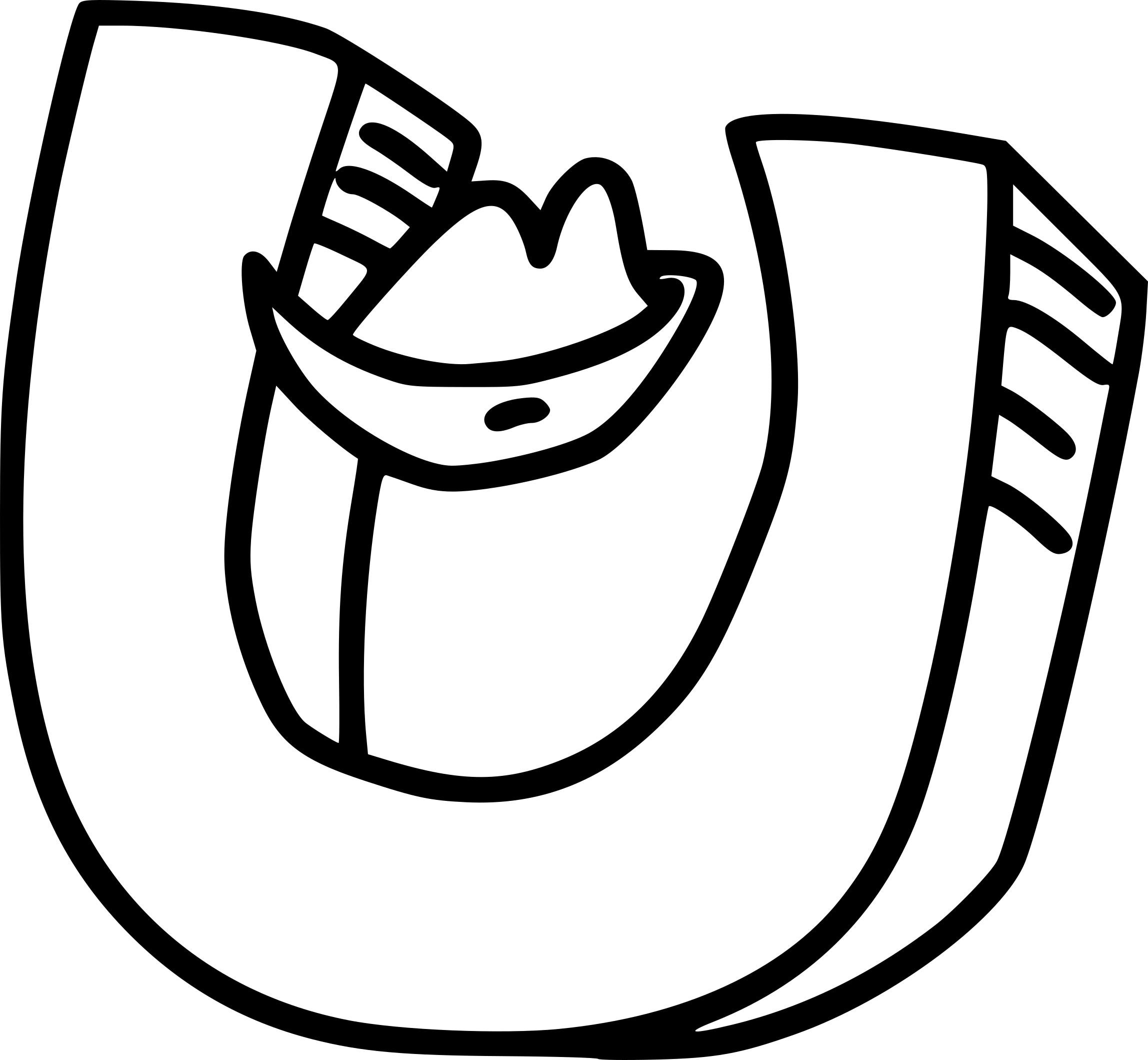 Coloriage lettre U à imprimer
