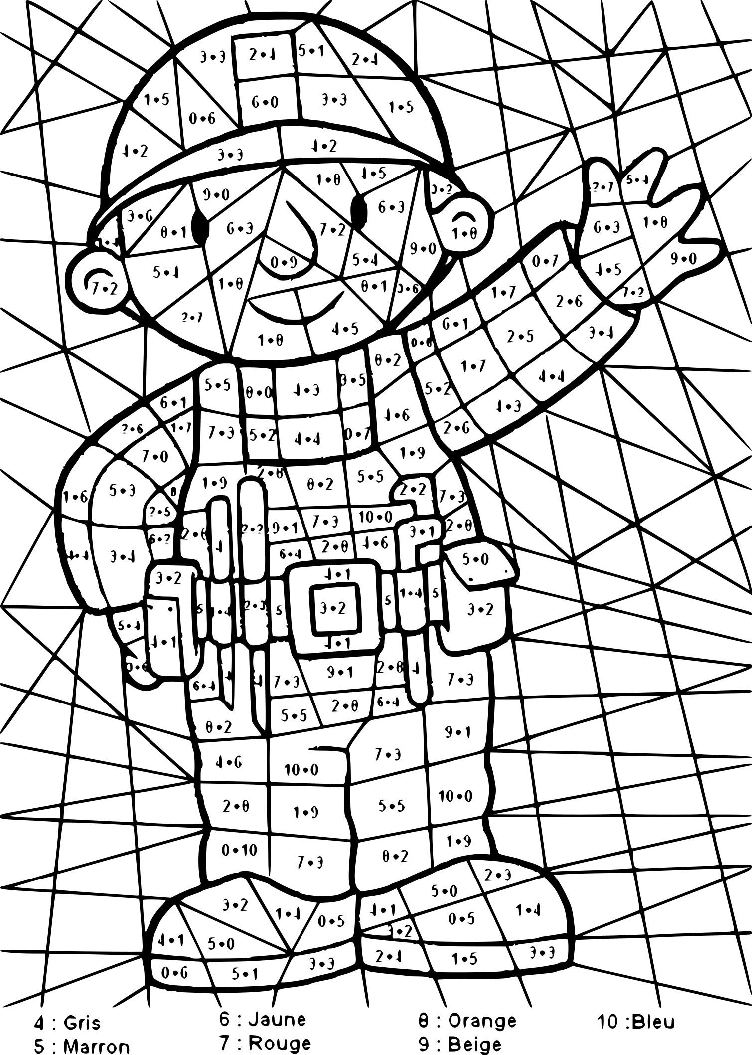 Coloriage magique addition imprimer - Coloriage magique elephant ...